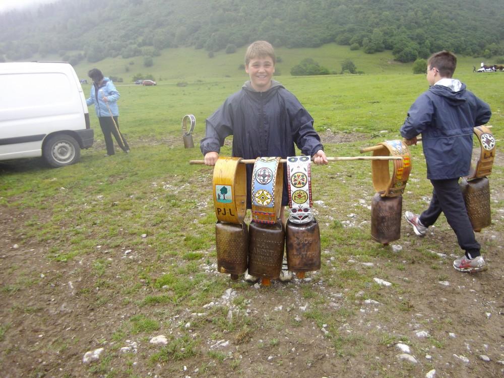 les cloches pour les vaches de la transhumance en Ossau